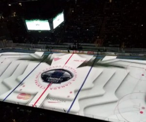 NHL – Le nouveau show 3D projeté sur la glace des Maple Leafs de Toronto