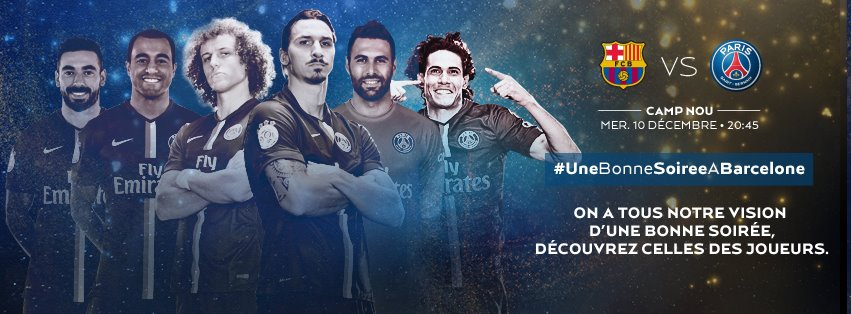 le psg veut vivre unebonnesoireeabarcelone ce soir contre le bar a. Black Bedroom Furniture Sets. Home Design Ideas