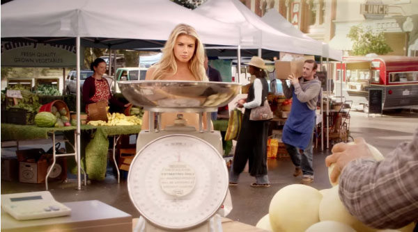Carl's Jr Charlotte McKinney super bowl 2015 commercial glamour