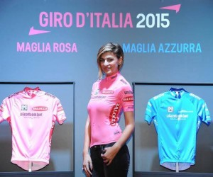 L'ancienne Miss Italie Cristina Chiabotto dévoile le look des maillots du Giro 2015