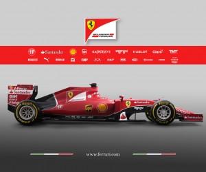 F1 – Une vingtaine de sponsors sur la nouvelle Ferrari SF15-T