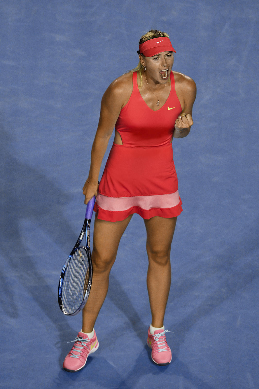 5061e8e9a1 Open d'Australie 2015 - Tenue Maria Sharapova (Nike tennis outfit) ...