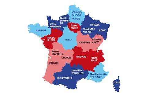 carte régions france réforme territoriale