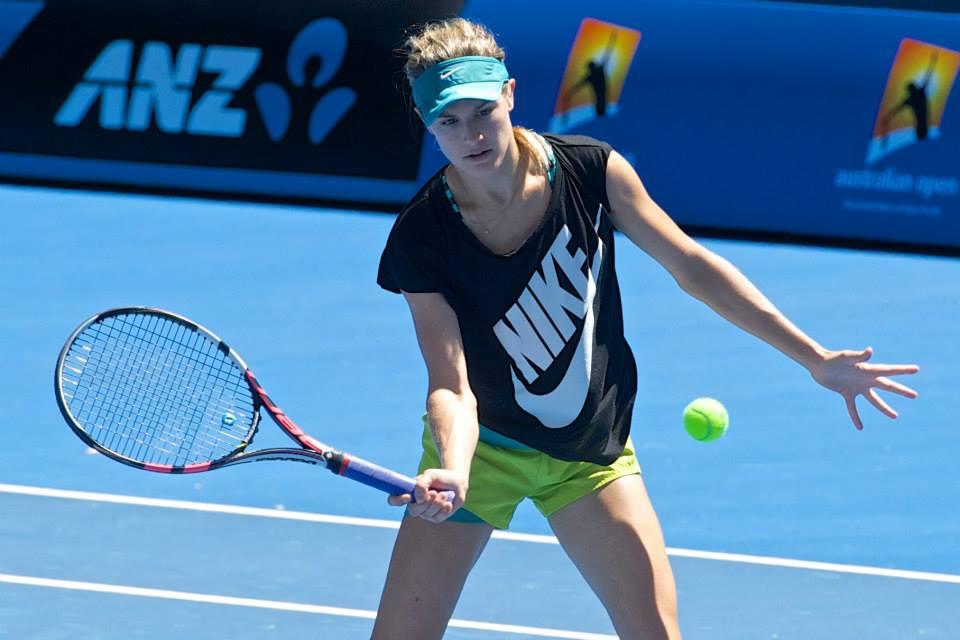 eugénie bouchard training outfit nike tennis australian open 2015