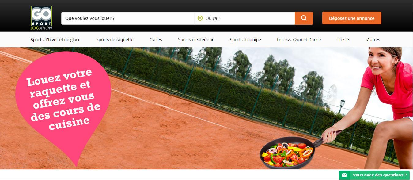 location matériel de sport go sport location
