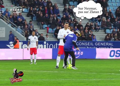 oscaro séan garnier zlatan ibrahimovic bastia PSG freestyle