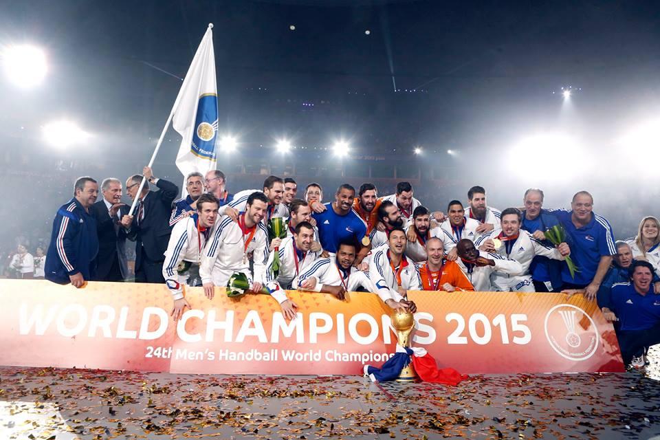 Les sponsors remercient l 39 equipe de france de handball - Diffusion coupe du monde de handball 2015 ...