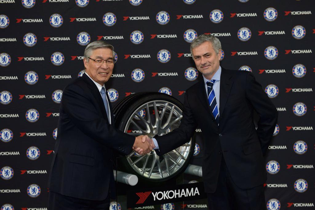 chelsea FC yokohoma sponsorship jersey mourinho