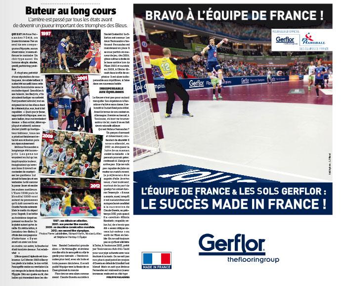 gerflor équipe de france handball