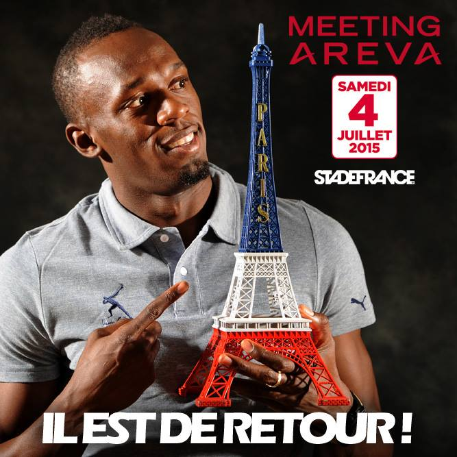 meeting areva 2015 usain bolt Paris