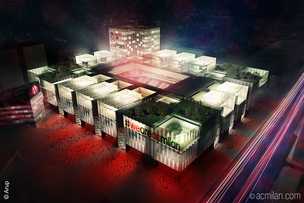 le projet de nouveau stade du milan ac 320 millions d 39 euros d voil. Black Bedroom Furniture Sets. Home Design Ideas