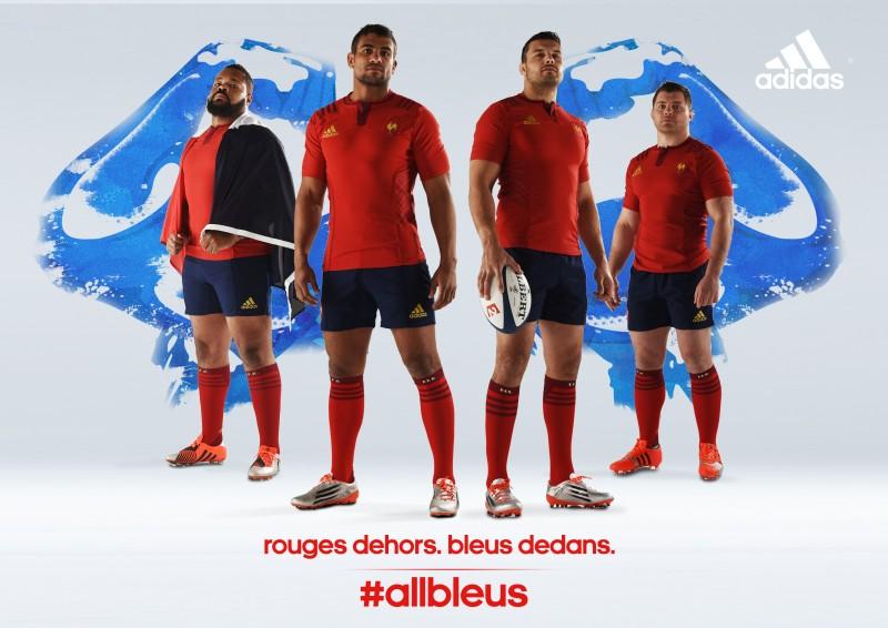 Rugby nouveau maillot ext rieur rouge adidas du xv de france for Maillot exterieur xv de france