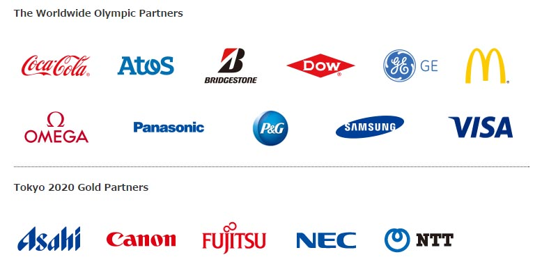 sponsors JO tokyo 2020
