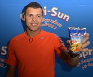 Jo-Wilfried Tsonga nouvel ambassadeur des jus de fruits pour enfants Capri-Sun