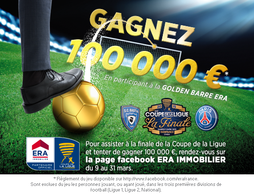 Une golden barre 100 000 lors de bastia psg finale coupe de la ligue 2015 - Billetterie coupe de la ligue 2015 ...
