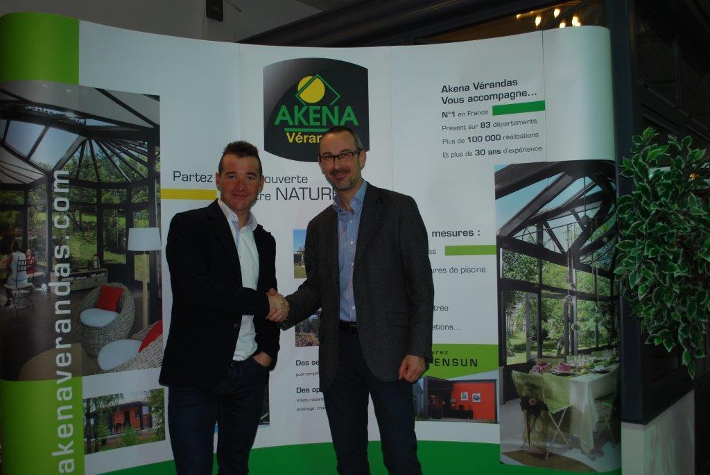 Partenariat Thomas Voeckler AKENA vérandas