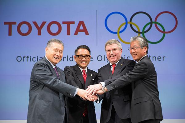 TOYOTA partenaire TOP CIO Jeux Olympiques