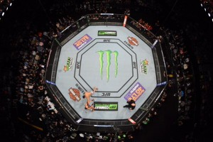 UFC Monster Energy drink sponsorship octagon