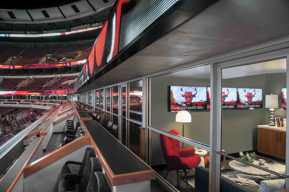 airbnb chicago bulls appartement NBA loges