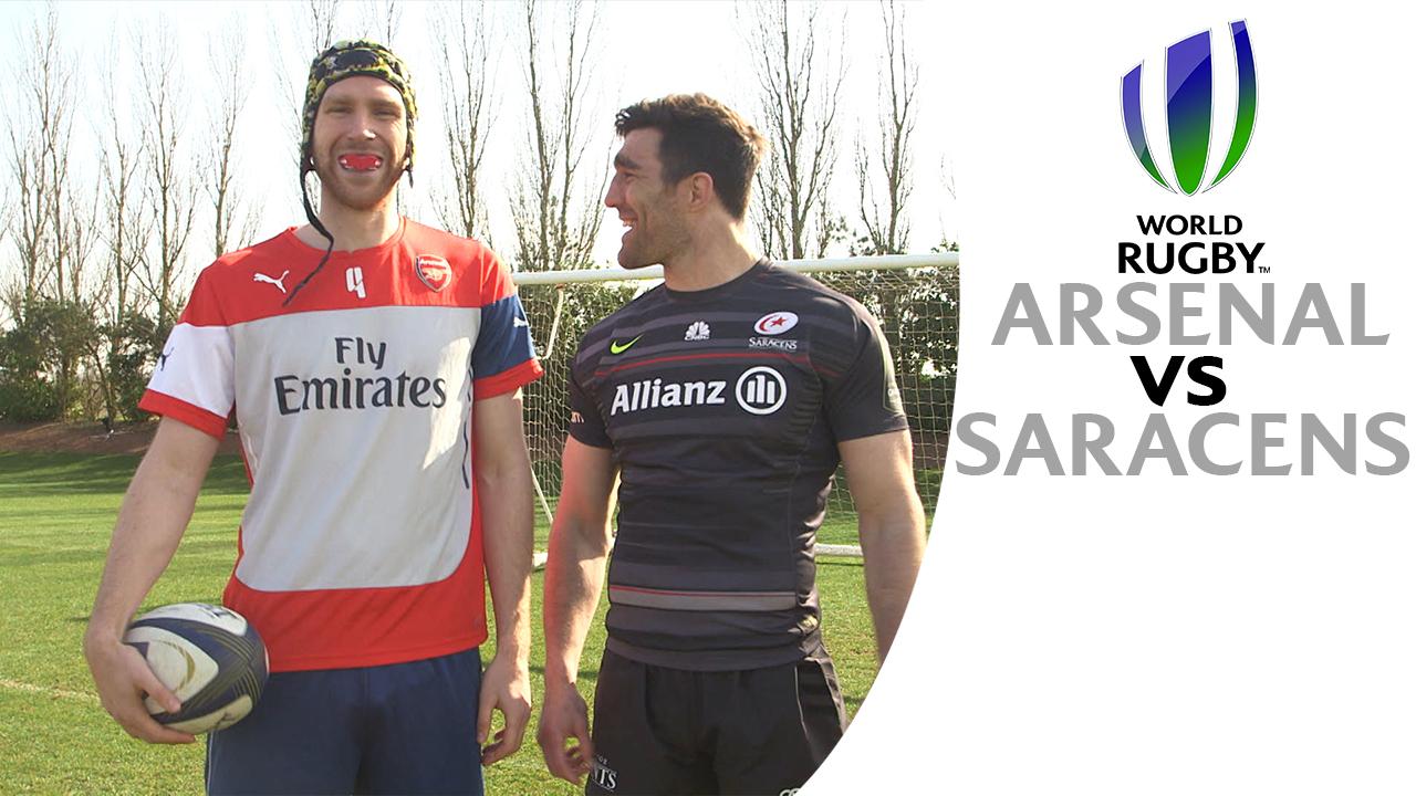 arsenal rugby giroud saracens world cup 2015