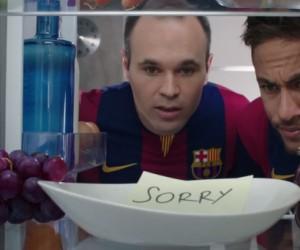 FC Barcelone – Messi, Neymar, Iniesta, Suarez et Piqué dans la nouvelle publicité Beko