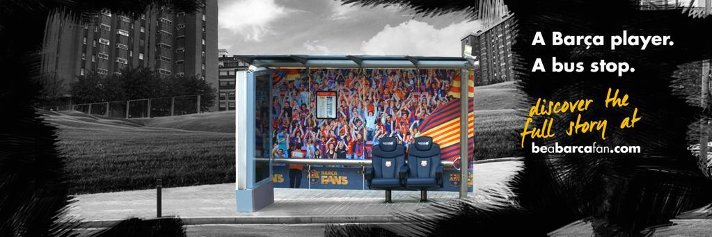 fc barcelona bus stop hidden camera