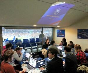 Une Social Room dédiée aux sponsors des Bleus pendant France-Brésil