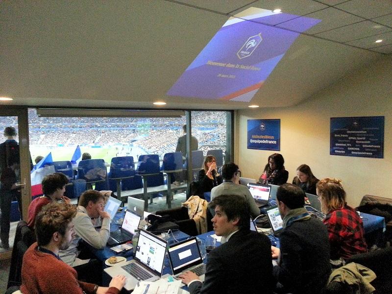 social room équipe de france FFF stade de france Brésil