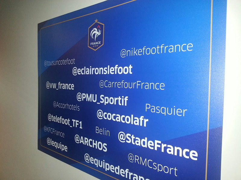 social room sponsors équipe de france FFF stade de france Brésil