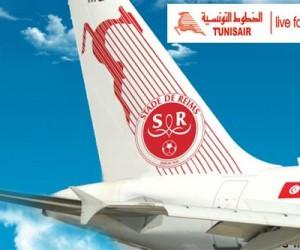 Tunisair nouveau sponsor au dos du short du Stade de Reims jusqu'à la fin de la saison