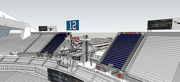 toyota fan deck NFL seattle seahawks
