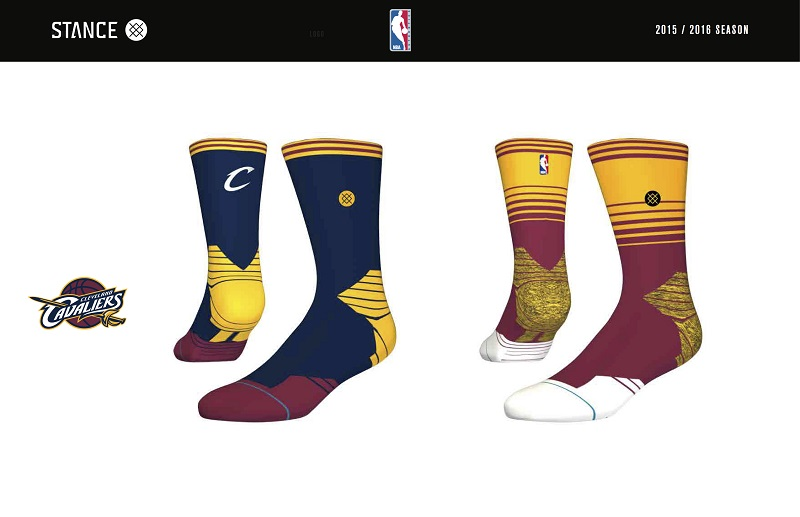 Cleveland Cavaliers Stance NBA Sock Design