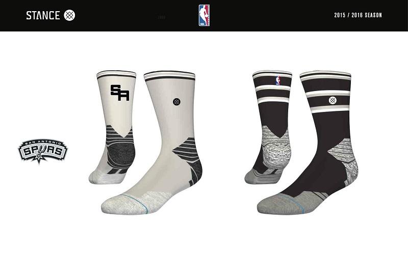 San Antonio Spurs Stance NBA Sock Design