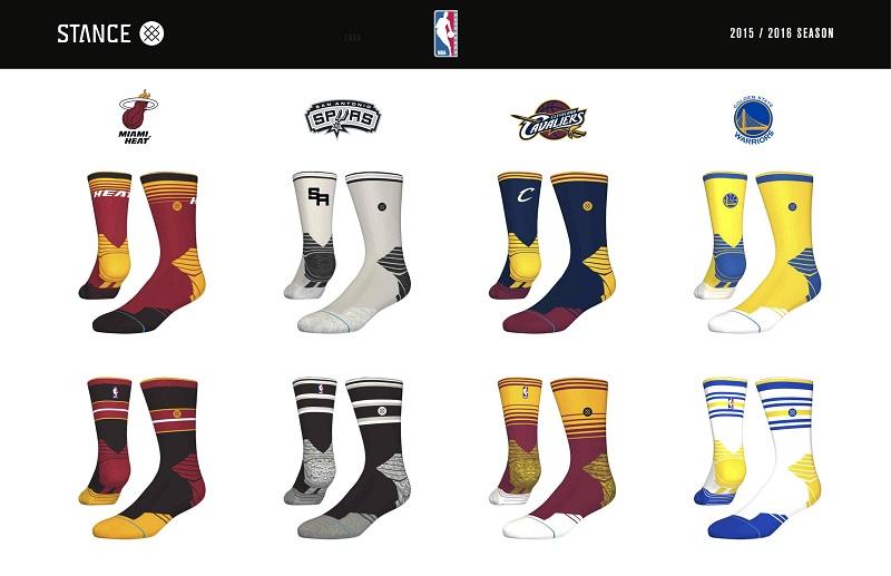 Stance NBA Team Sock Designs chaussettes