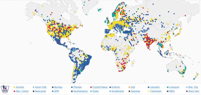 93e2abd0ab87e Twitter map premier league fans · ParionsSport · Comme avec la NFL en ...