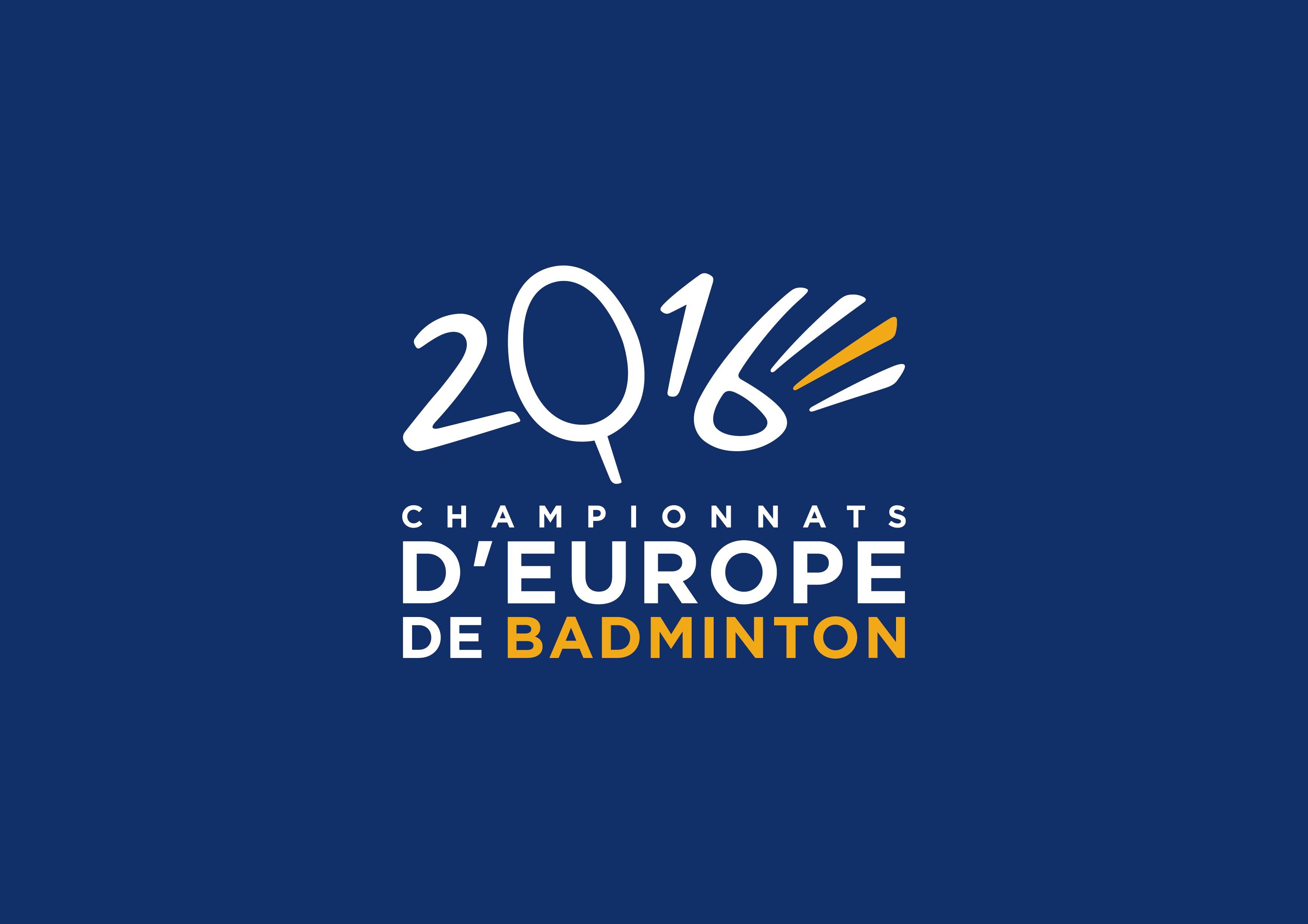 logo championnats d'europe badminton 2016 france
