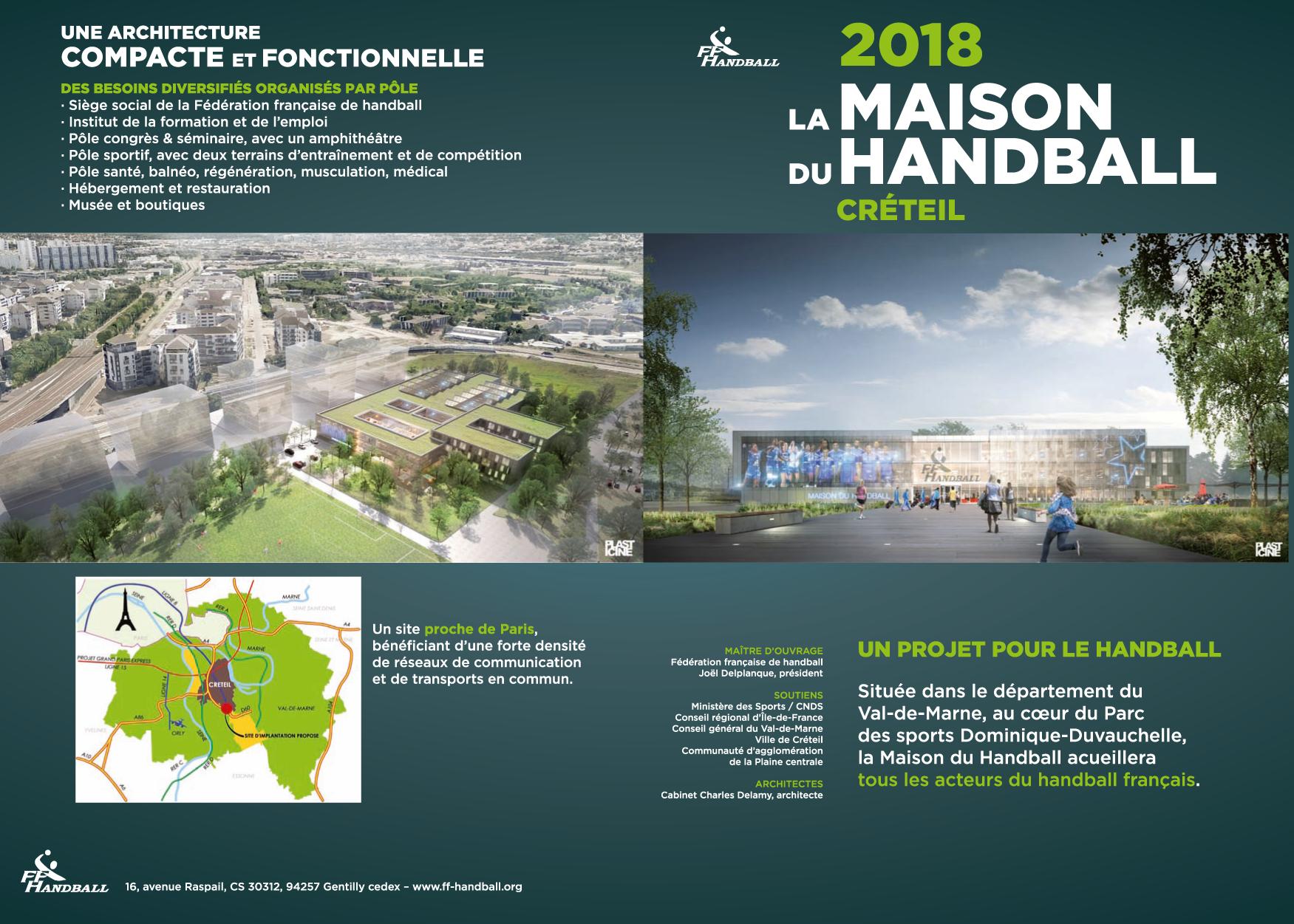 Grand National Car 2015 >> La Maison du Handball à Créteil d'ici 2018 pour un coût total de 41,5 millions d'euros