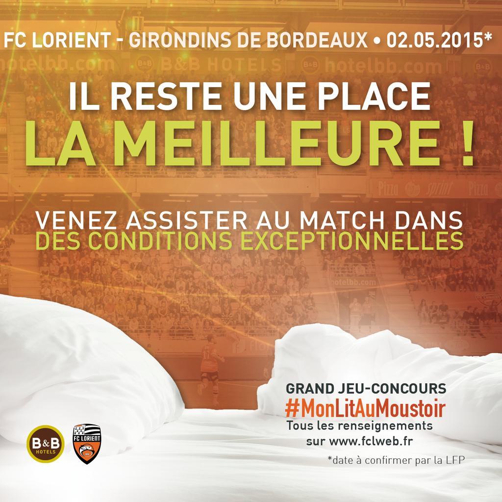 mon lit au moustoir FC Lorient b&b hotels