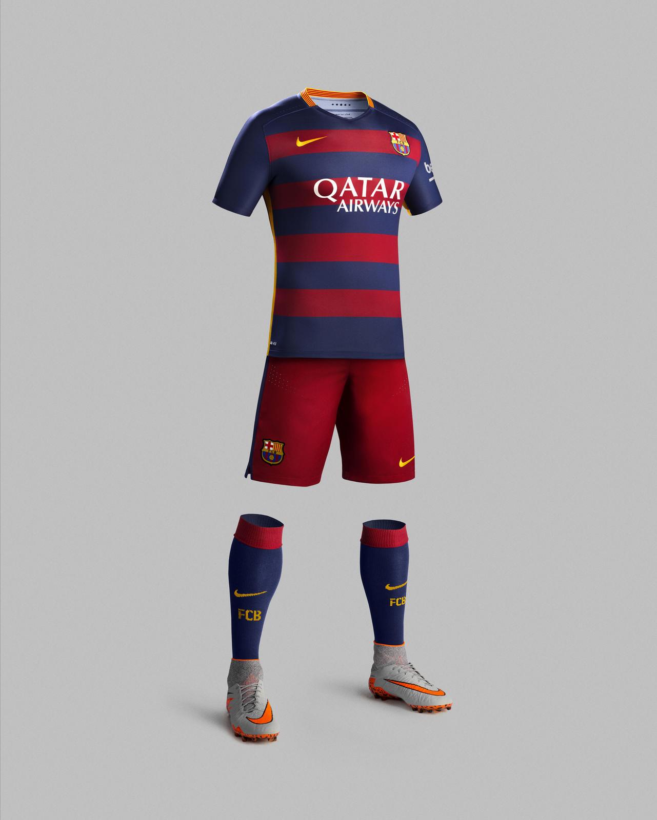 FC Barcelona home kit 2015 2016 Nike football