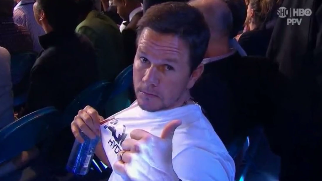 Mark Wahlberg aqua hydrate pacquiao mayweather promo