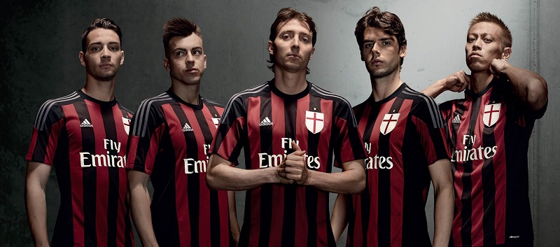 nouveau maillot domicile 2015 2016 ac milan adidas. Black Bedroom Furniture Sets. Home Design Ideas
