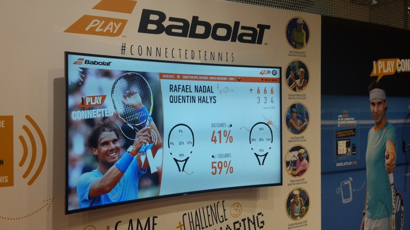 babolat digital wall connected tennis