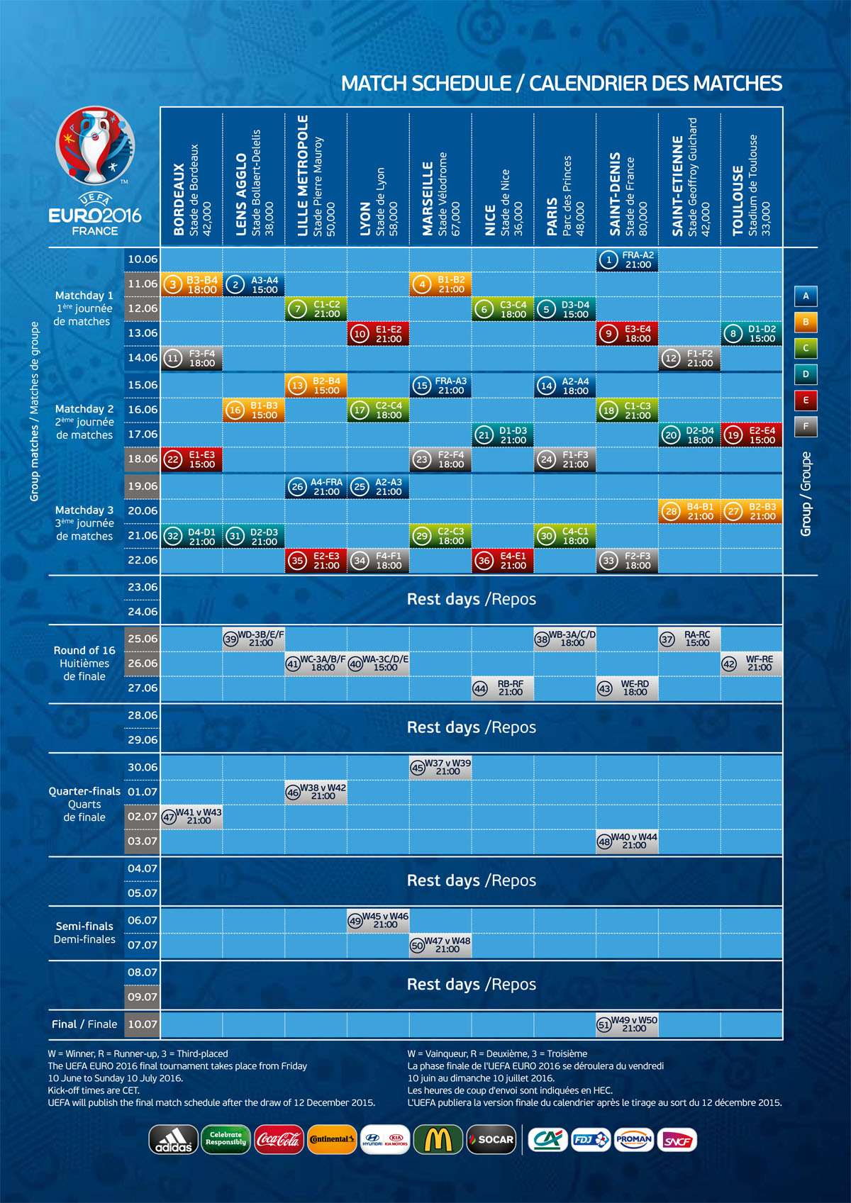 calendrier match