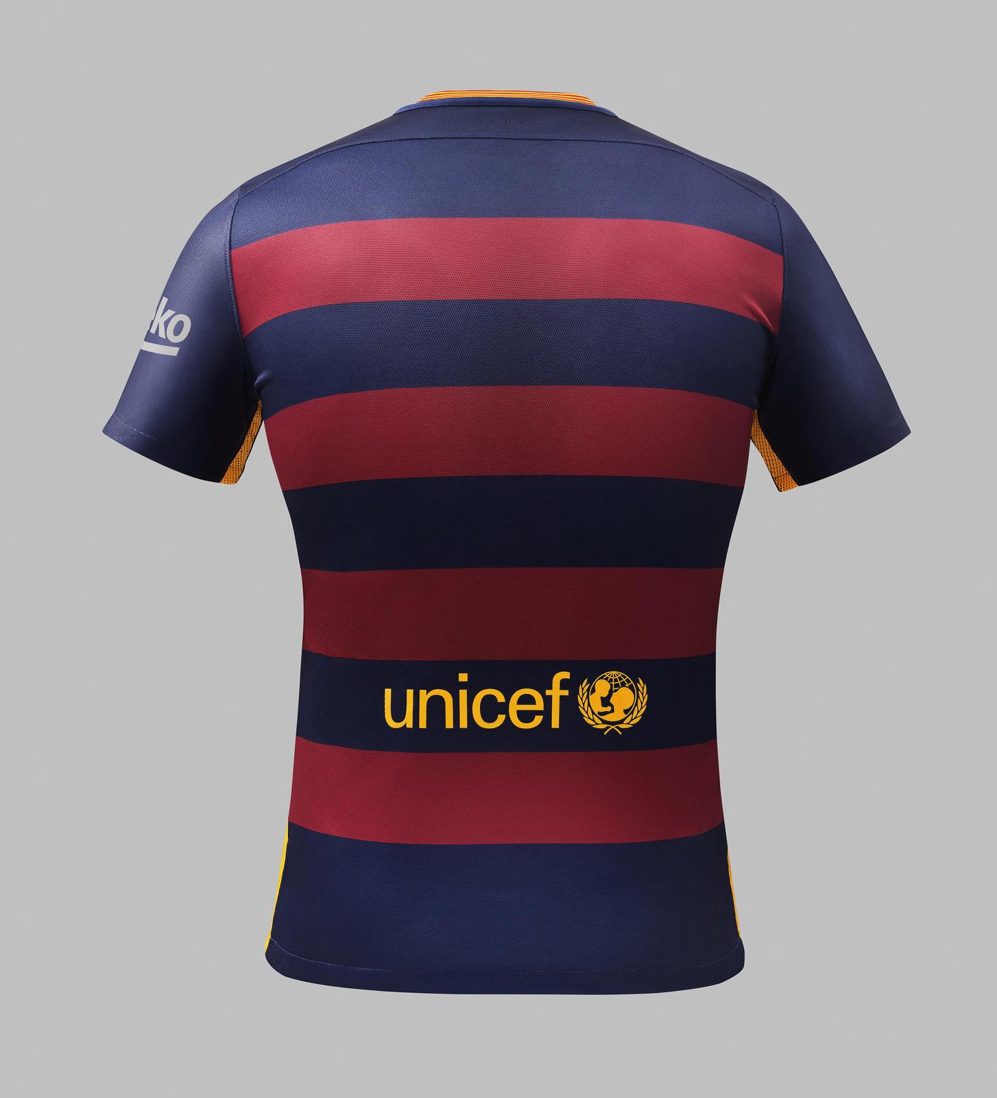 fc barcelona home jersey 2015 2016 nike football back