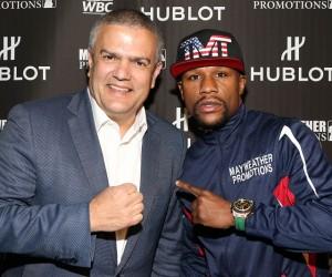 L'horloger Hublot sponsor short de Floyd Mayweather lors du combat du siècle contre Manny Pacquiao