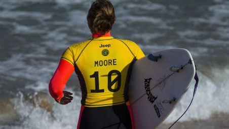 jeep World surf league yellow jersey WSL