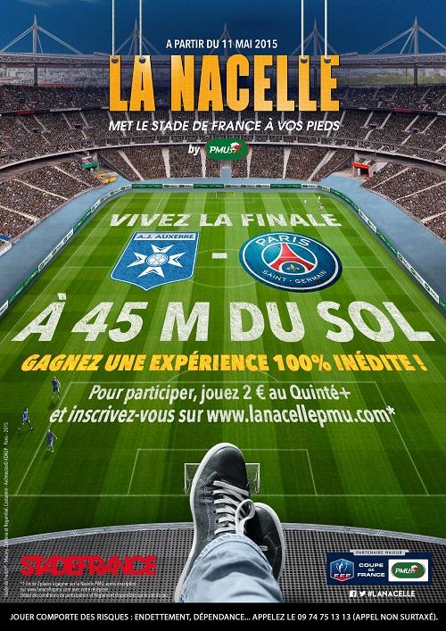 la nacelle PMU auxerre PSG finale coupe de france 2015 stade de France