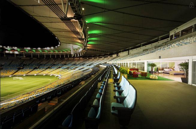 night maracana stadium airbnb marketing experience