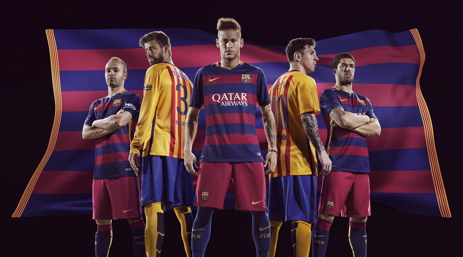 nouveaux maillots home away  15 16 FC Barcelone Nike