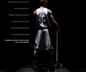 Under Armour célèbre le titre MVP de Stephen Curry avec le clip «tailleur de pierre» et une chaussure collector
